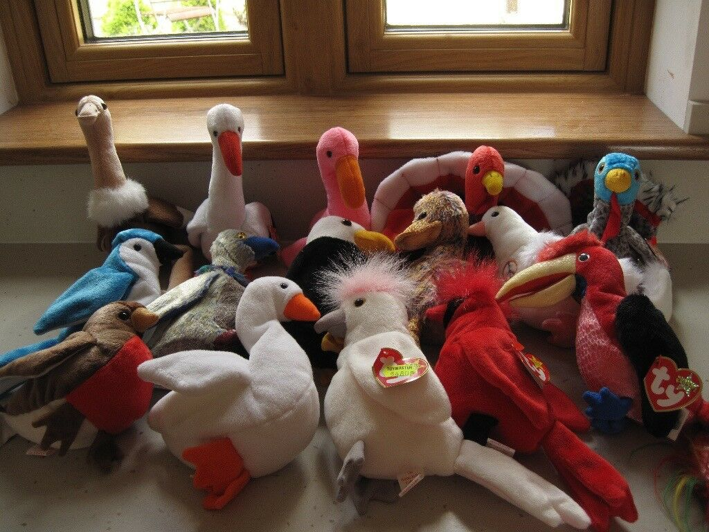 Ty Beanie Babies - collection of birds