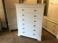 CHANTILLY WHITE 6 Drawer Chest