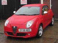 2009 (58 reg), Alfa Romeo Mito 1.6 JTDM Lusso 3dr