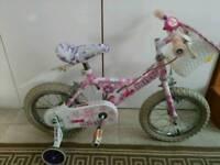 Raleigh Mini Miss girls bike 4 to 6 year old