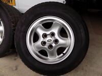 """16"""" DEFENDER ALLOY WHEEL AND TYRE CHOICE OF 5"""
