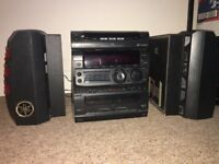 Sony hi fi system deep and loud bassy sound/3 cd changer/ tapes/ radio etc.