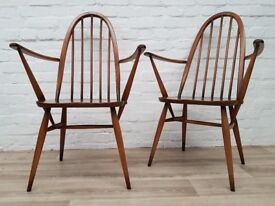 Pair Of Ercol Golden Dawn Quaker Carver Chairs (DELIVERY AVAILABLE)