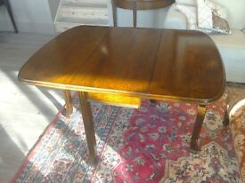 Antique Oak Gate Leg Kitchen Dining Occasional Table