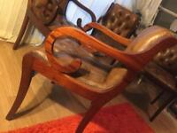 Chesterfield Vintage Chairs X4