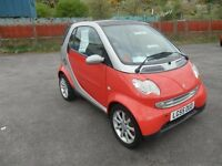smart car city coupe, 55 reg,drives superb,economy driving,cheap tax and running,full glass roof