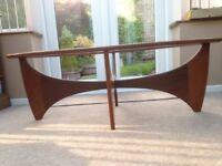 G plan Fresco Astro Oval Afromosia Teak Glass Coffee Table 60s 70s Retro