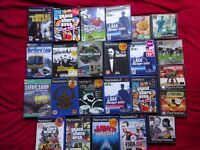 25 PS2 -PS1 & PC GAMES JOB LOT