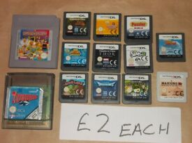 DS AND GAMEBOY GAMES £2 EACH
