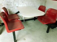 Takeaway/restaurant table chair set great comdition