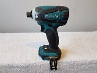 "MAKITA DTD146 18v LXT LI-ION impact driver BODY & 3ah battery ONLY. ""USED"" ."