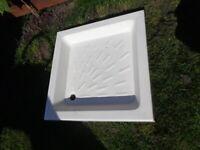 Ceramic shower tray 80 x 80 cm