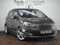 FORD C-MAX 1.0 Ecoboost 125 Titanium X [Pan Roof, Heated Seats] 5dr (brown) 2015