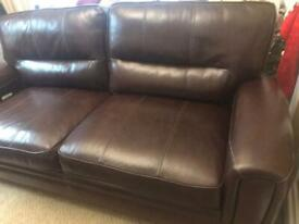 Luxury soft leather sofa and armchair
