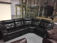 Brand New Corner Group Endurance Leather Sofa 12months Interest Free Finance Available