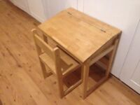 Kids Wooden Desk and Chair