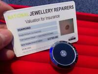 Amazing Beautiful 1.39ct Diamond With Certificate Card Only £1200 Excellent