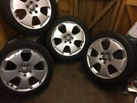 "4x17"" Audi A3 sport alloys and tyres"