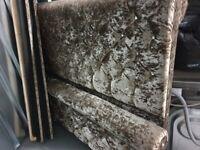 Crushed velvet bed king size gold