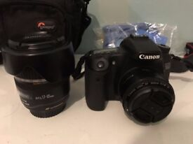 Canon 70D with 17-85 & 50mm 1.8f Lens Set
