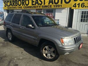 2001 Jeep Grand Cherokee Limited / 4WD / LEATHER / ROOF / ALLOYS