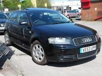 AUDI A3 1.6 16V 3d 101 BHP DRIVES SUPERB , ANY TRIAL WELCOME (black) 2003