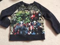 Boys NEXT marvel avengers jumper avengers age 4 years