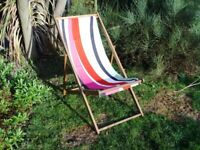 Traditional Folding Deck Chair as new only used once for a prop. 8 available
