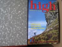 HIGH Climbing & Hill Walking Magazines in Original Binders