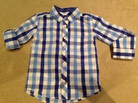 Boys shirt from Miniclub age 4-5 short or long sleeve excellent condition