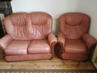 Free REAL leather sofas - must go this Wednesday evening