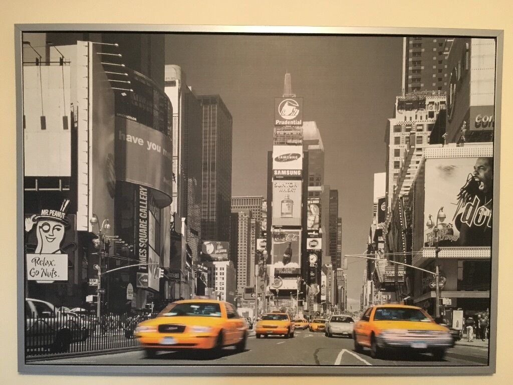 ikea new york times square canvas picture in littleborough manchester gumtree. Black Bedroom Furniture Sets. Home Design Ideas