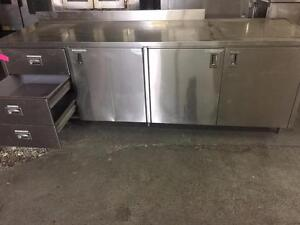 Heavy Duty Stainless Steel Table Counter Size:8ft x 30inch
