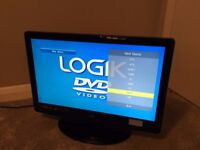 "Logik 22"" 1080p HD Ready Television with built in DVD player, excellent condition"