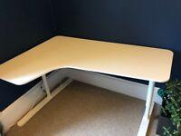 Office Desk from IKEA - Bekant Corner Desk (White) £150 - 160x110 cm