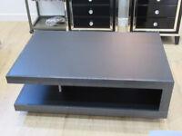 Brand new Ex Display Matt black Platinum Collection coffee table. Was £239