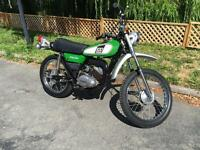 1976 Yamaha DT100 dual sport ONE OWNER 2445miles