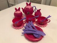 Children's Kids Disney Minnie Mouse Pretend & Play Teatime / Cafe / Dining Set
