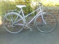 Womans purple falcon bicycle (small) with pannier rack and mud guards ��70 ono.