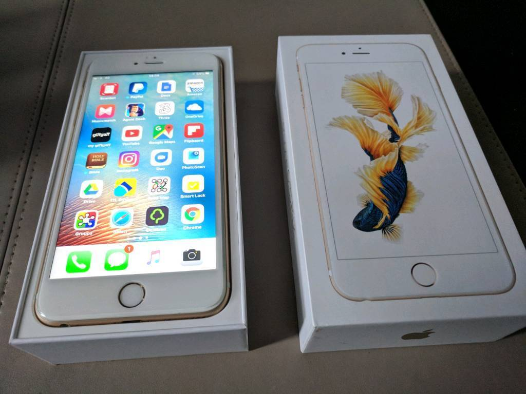 Gold mint 64GB iPhone 6s Plus