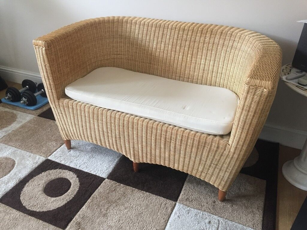 Astounding Rattan Cane Two Seater Sofa Excellent Condition In Hounslow London Gumtree Dailytribune Chair Design For Home Dailytribuneorg