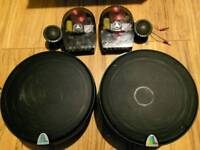 Jl Audio C3-650 component car audio speakers Mids bass tweeters cross overs