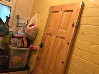 Wooden unpainted door interior