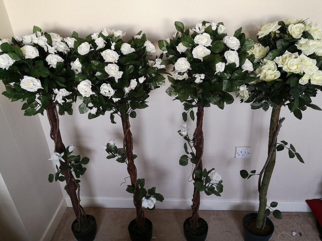 4 Artificial Rose Bay Trees Wedding