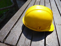Yellow JSP HDPE Safety Helmet adjustable adult size, used once. A fraction of new price!