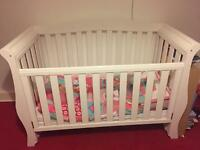 Sleigh cot bed - £100