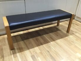 New 'Marks and Spencer' SONOMA Oak & Leather Dining Bench