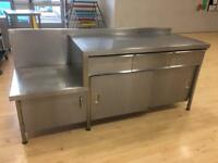 Stainless Steel Commercial Kitchen Cabinet Storage - In Used Condition!!