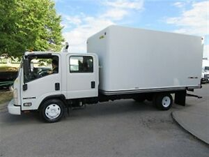 2008 Isuzu NPR HD Crew cab diesel with 15 ft fiberlass box