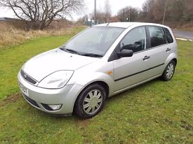 2004 FORD FIESTA 1.4 GHIA 5DR MOT DEC 17 SERVICE HISTORY ALLOYS LADY OWNER GREAT TO DRIVE